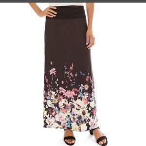 Apt. 9 Printed Column Maxi Skirt